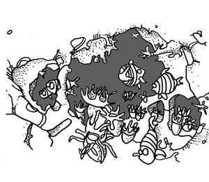 gezeichnete Kralle