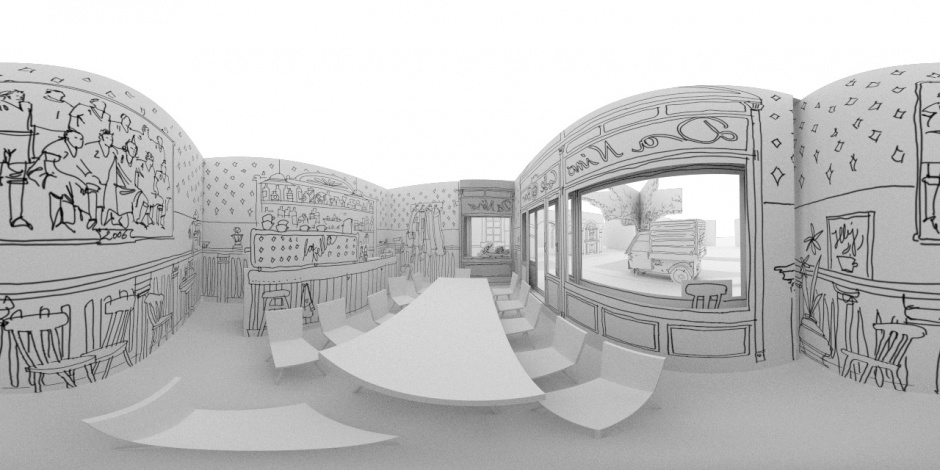 360 degree panorma inside the bar