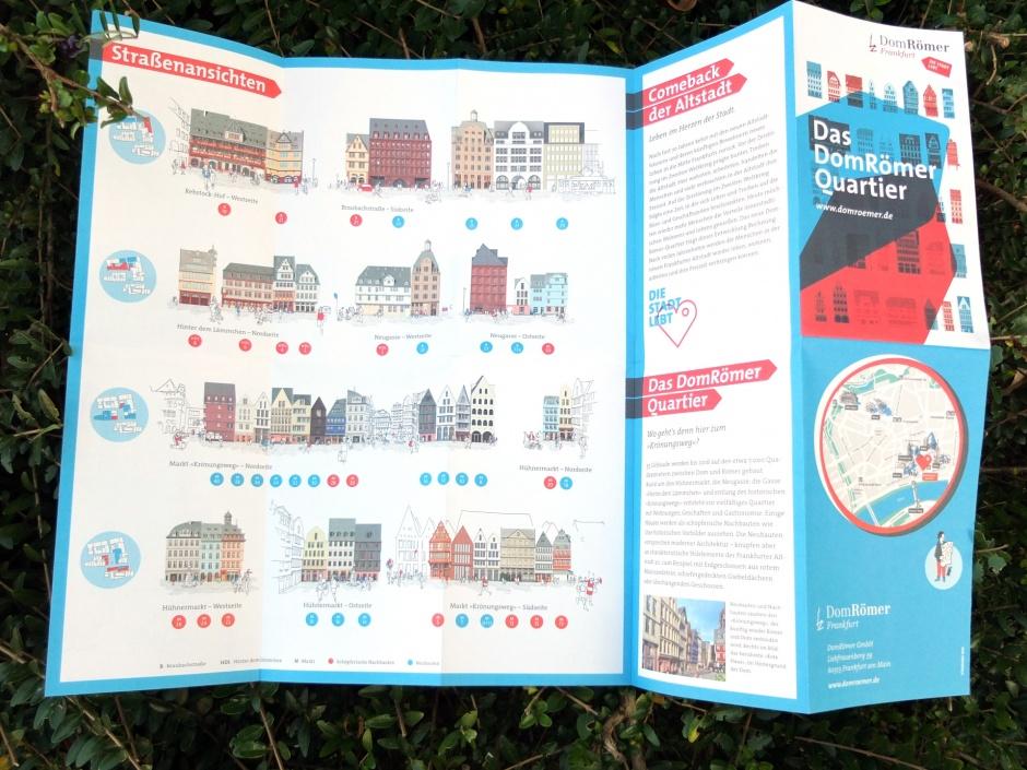 Faltplan DomRömer überzeichnete Häuserzeilen