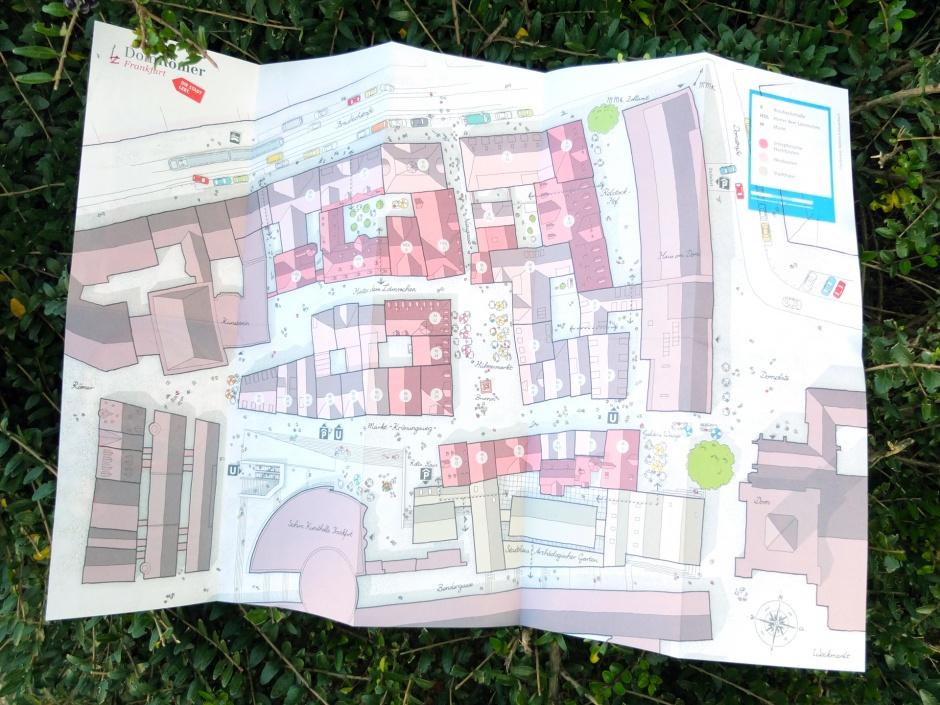 Faltplan DomRömer handgezeichneter Stadtplan