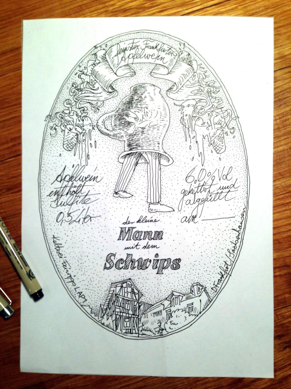 Zeichnung mit Finelinern