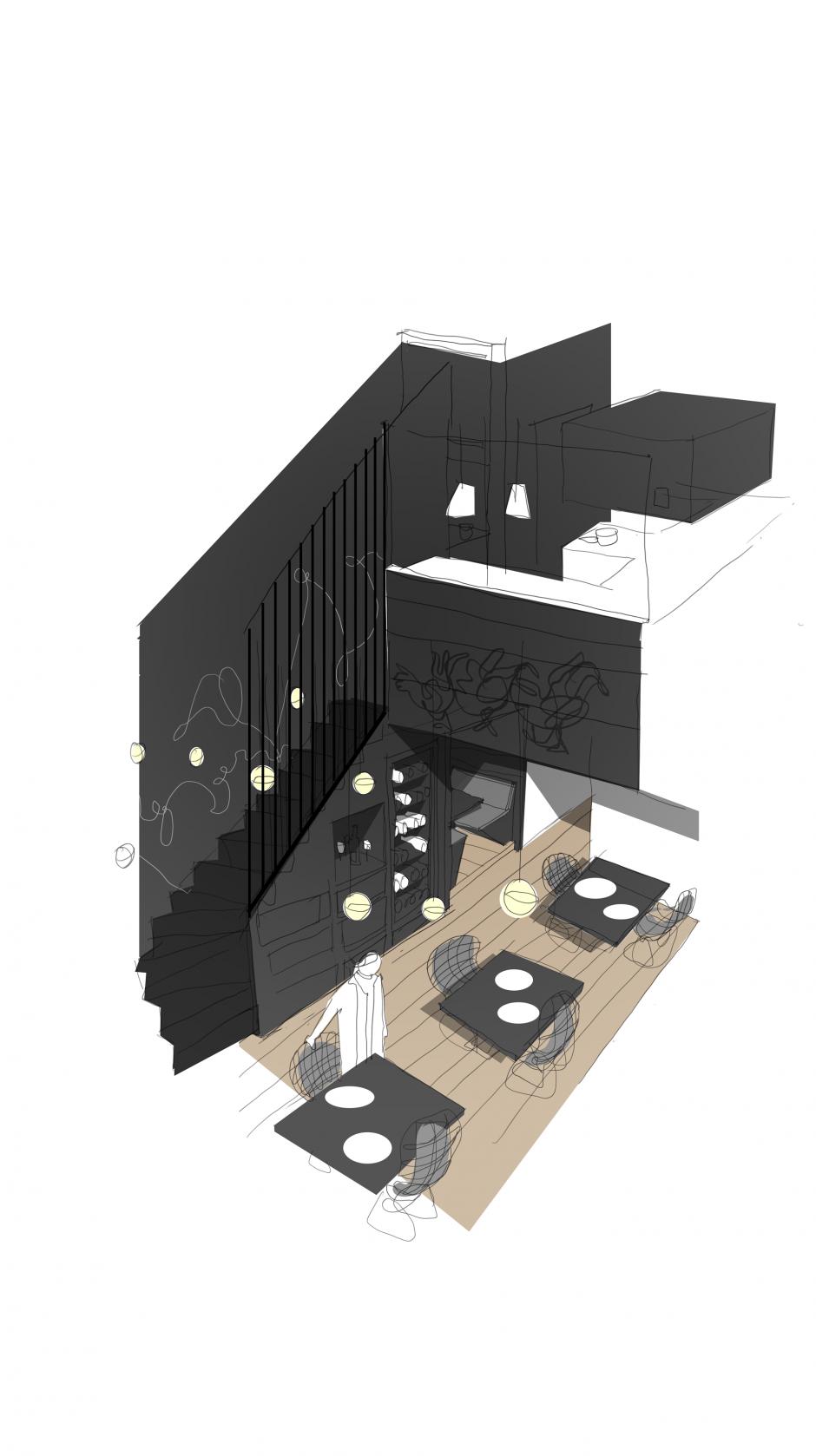 Perspektive Innenraum/Gastraum